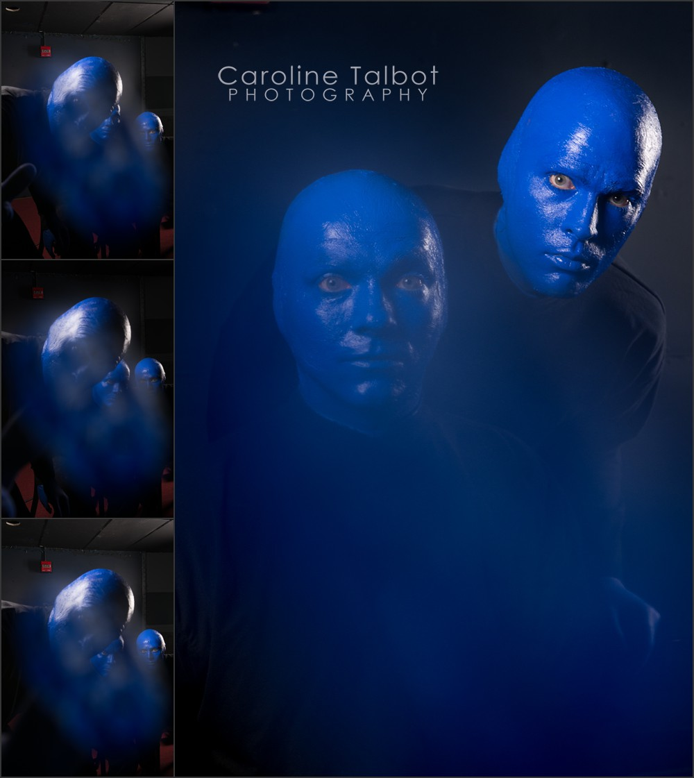 Blue Man Group Thumb Print Portrait