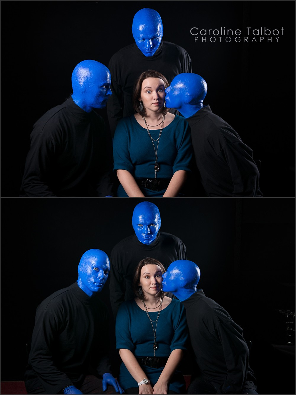 Blue Man Group Boston Kiss Portrait