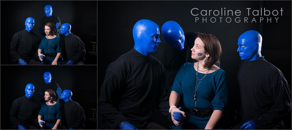 Blue Man Group Boston Portrait