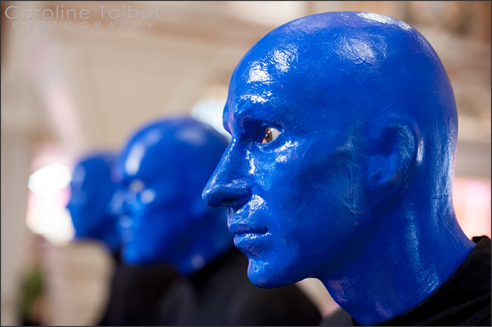 The Blue Man Group Wax Statues at the Venetian Grand Canal Shoppes